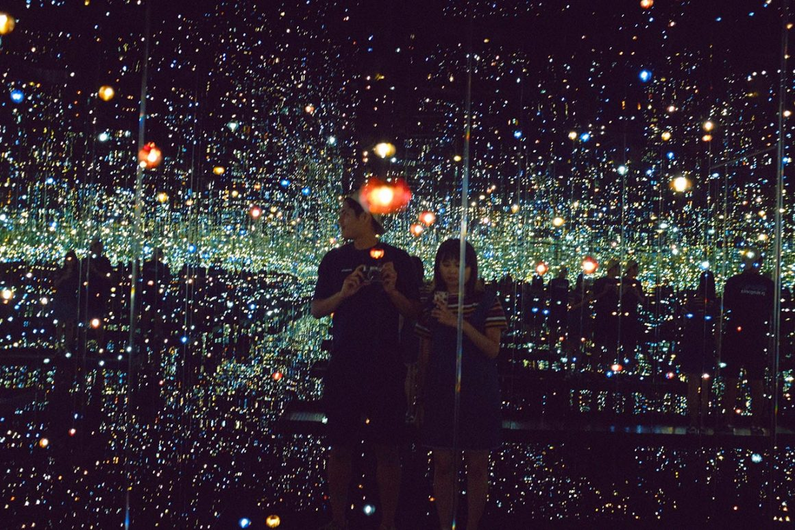 Infinity Mirror Room by Yayoi Kusama attraction at The Broad Museum in Los Angeles