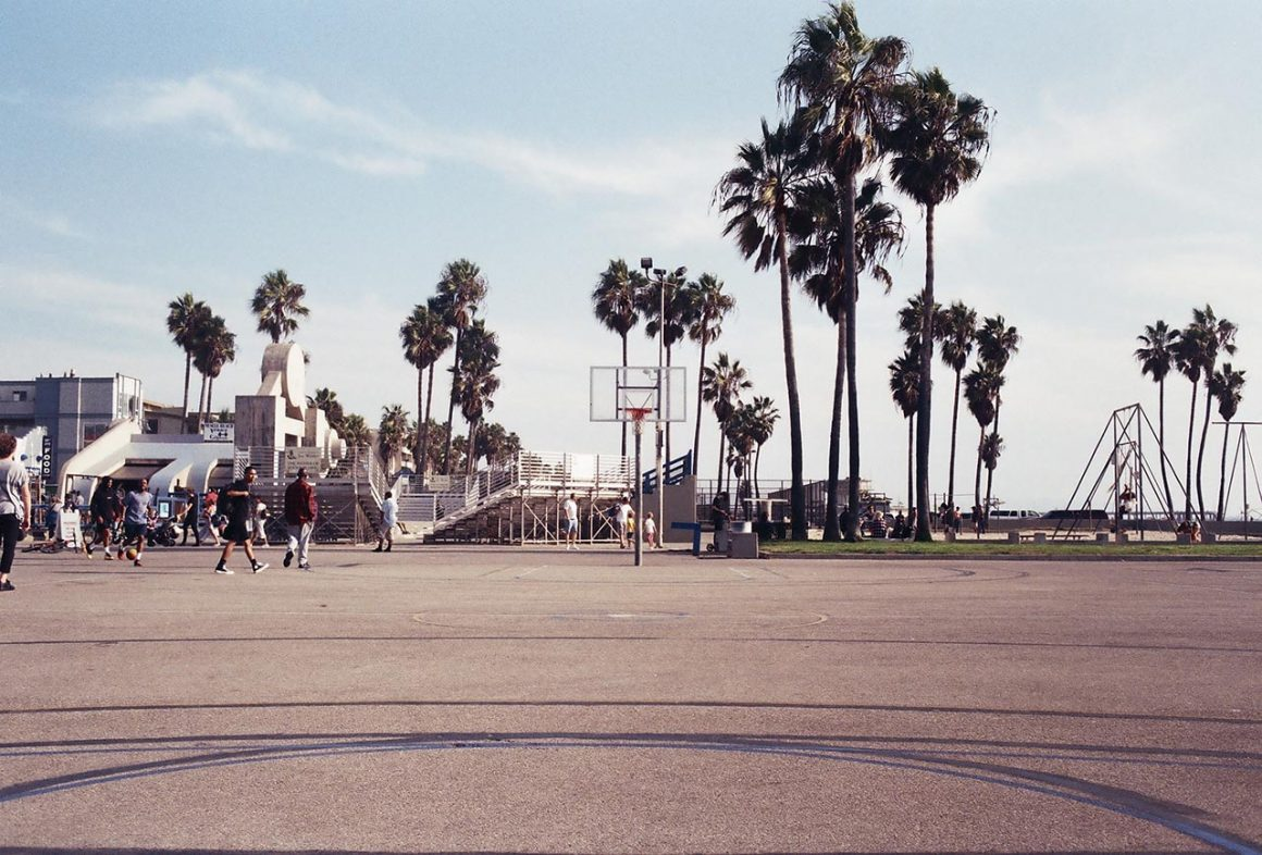 Venice Beach basketball courts