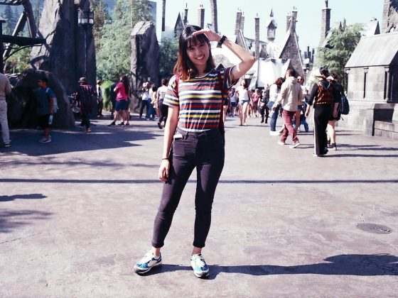 Girl at the Wizarding World of Harry Potter in Universal Studios Hollywood