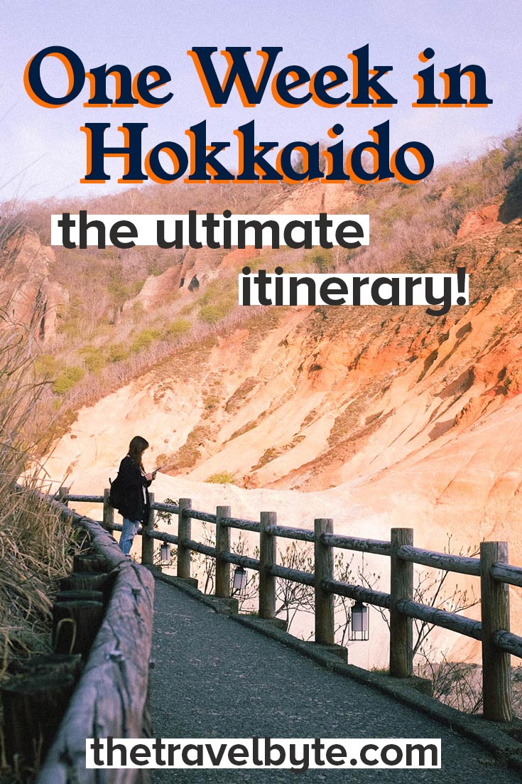 One Week Hokkaido Itinerary Pin for Pinterest