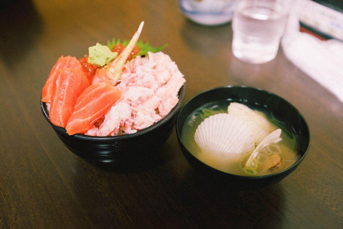 Kaisen don at Otaru Sankaku Fish Market
