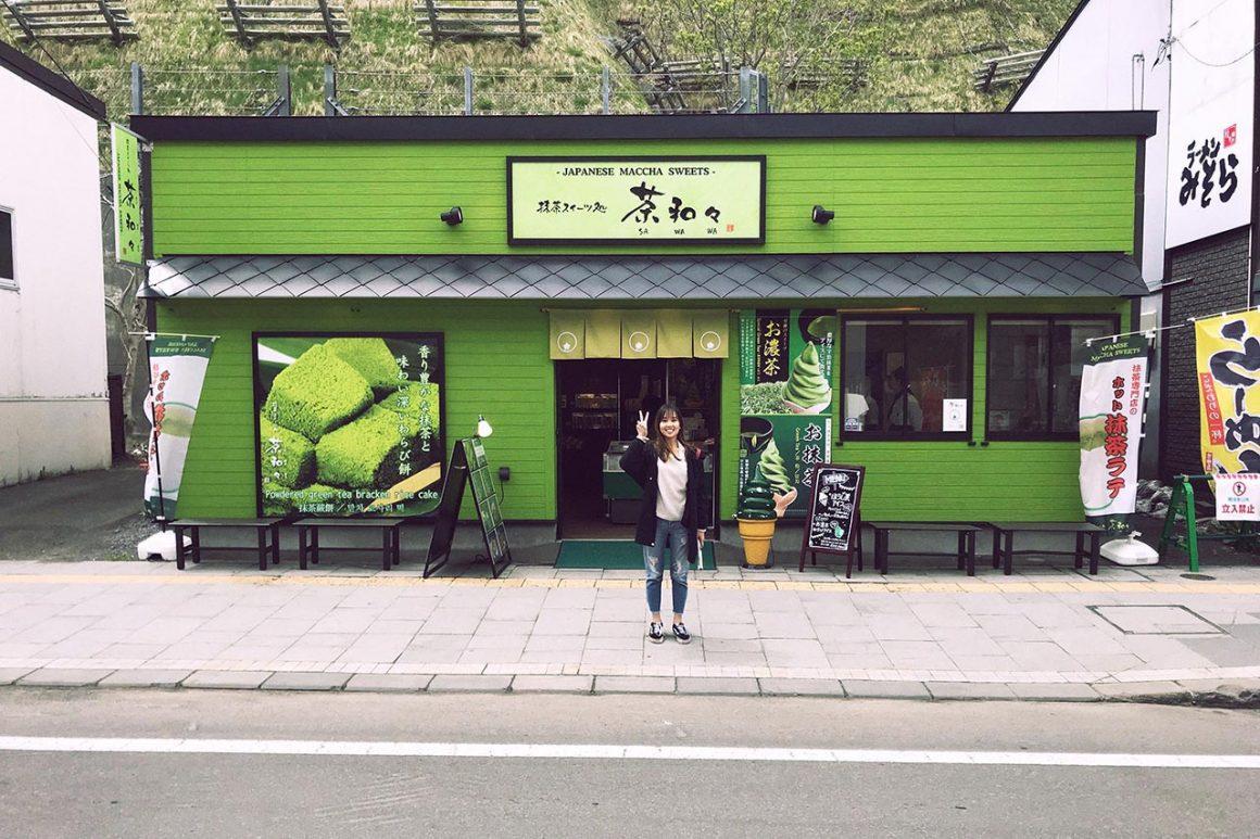 Matcha sweets shop in Otaru